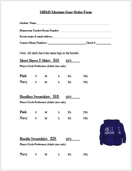 T-Shirt Order Form Editable 2