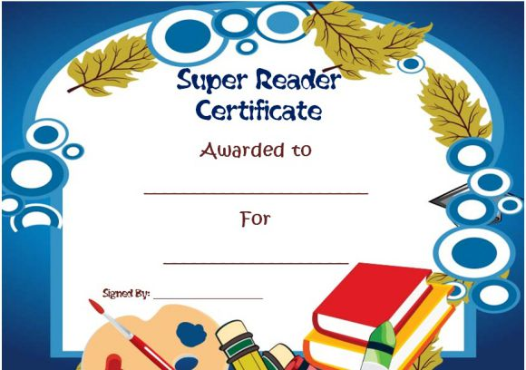 Top reader student of the year award