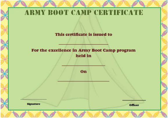 25 Boot Camp Certificate Templates To Download And Use Demplates