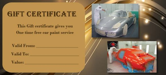 wordings for an auto detailing gift certificate