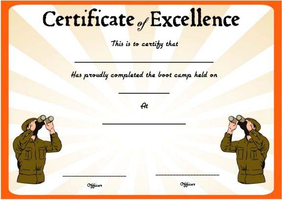 boot camp certificate