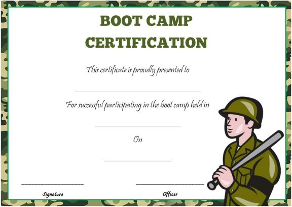 25 boot camp certificate templates to download and use demplates top swimmer maxwellsz