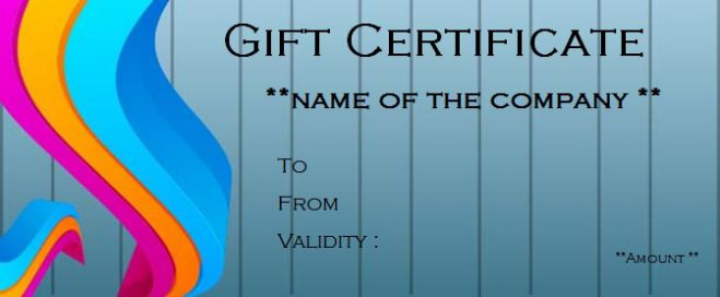 BusinessGift Certificate