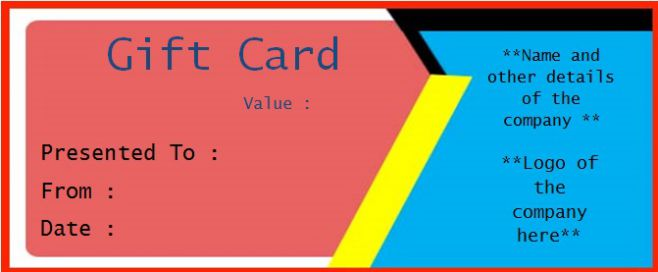 Business Gift Certificate Template Free