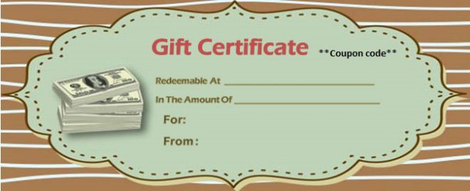 Business Gift Certificate Template Free Download
