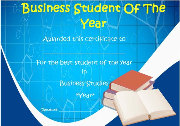 business student of the year award