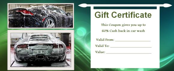16 personalized auto detailing gift certificate templates demplates. Black Bedroom Furniture Sets. Home Design Ideas