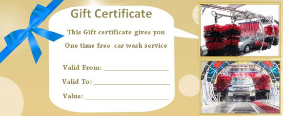 Car Wash Tickets Free Template - Demplates