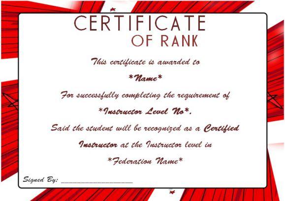 DojoTemple Martial ArtsKarate Rank Belt Certificate Template