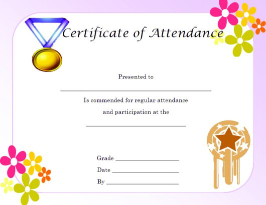 Certificate of Attendance and Partcipation Template