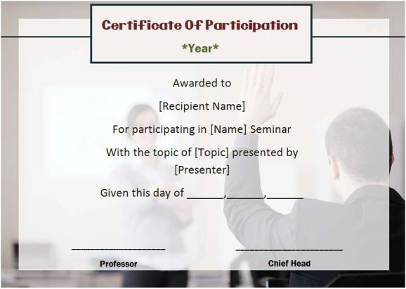 Template Certificate Of Participation Solan Annafora Co