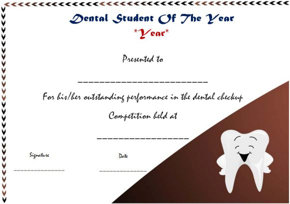 dental student of the year award