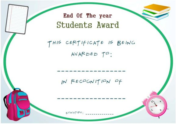 free printable end of year awards for students  14  Free Download and Printable End of the Year Awards for ...