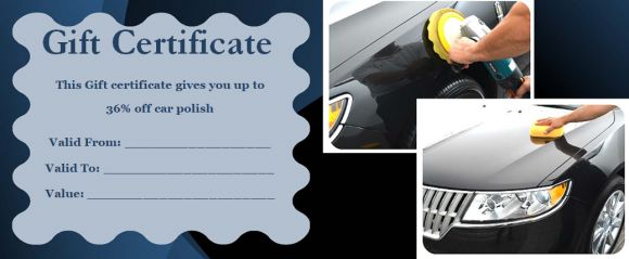 16 personalized auto detailing gift certificate templates demplates giving your business contact number and website url if any is also a good practice to follow to spread a word about your business and catch the attention yelopaper Choice Image