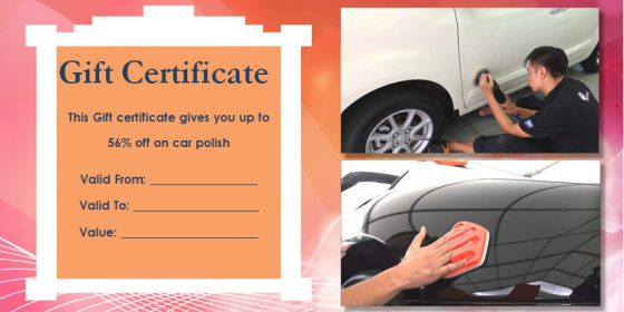 Personalized Auto Detailing Gift Certificate Templates Demplates - Automotive gift certificate template
