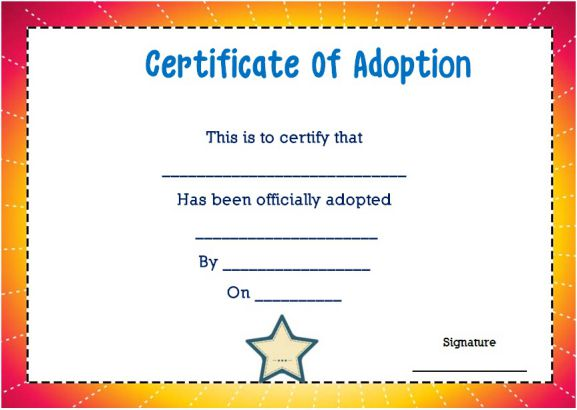 14 blank adoption certificate templates for you to download and use