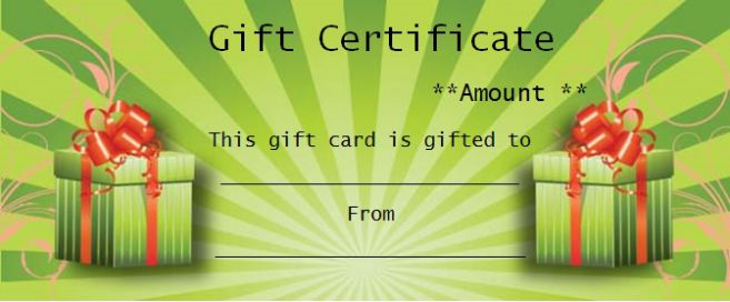 Free Printable Business Gift Certificate Template