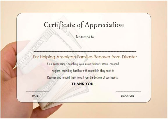 free thank you for your donation certificate template