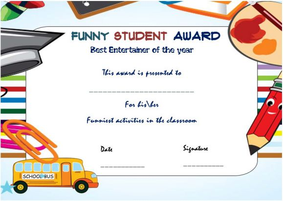 25+ Downloadable and Printable Funny End of the Year Awards