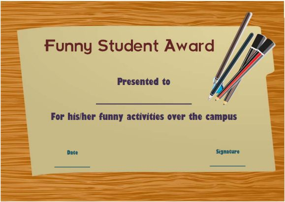 funny awards for students at the end of the years