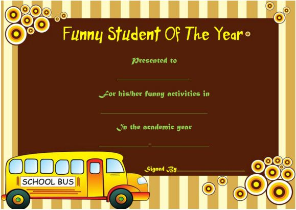 funny end of the year award for students