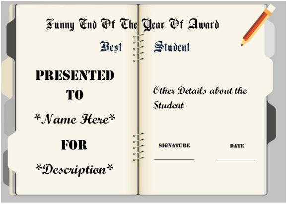 funny end of the year awards for high school student