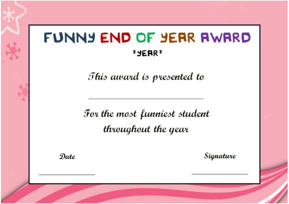 funny end of the year awards for student