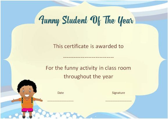 funny end of the year awards for students