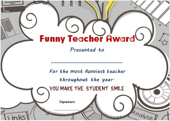 funny end of the year awards for teacher