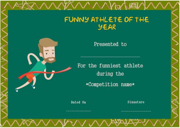 funny end of year awards for athlete