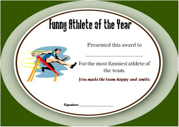 funny end of year awards for athletes