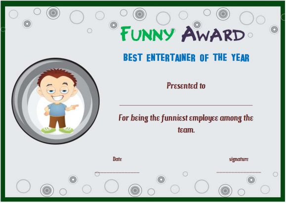 funny end of year awards for employees