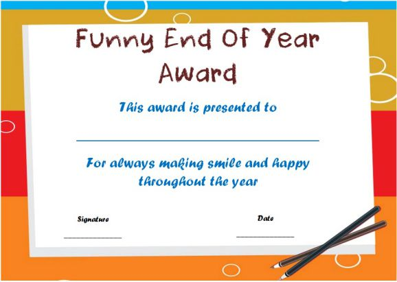 funny end of year awards ks2