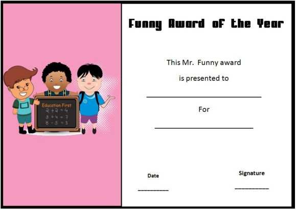funny end of year awards ks2s