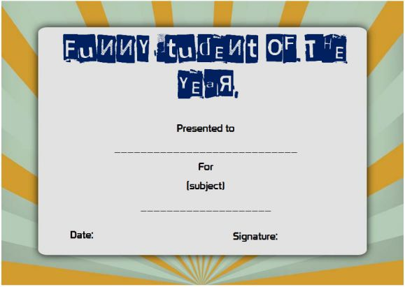 funny student awards for the end of the year