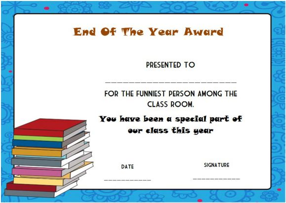 funny student awards for the end of the years