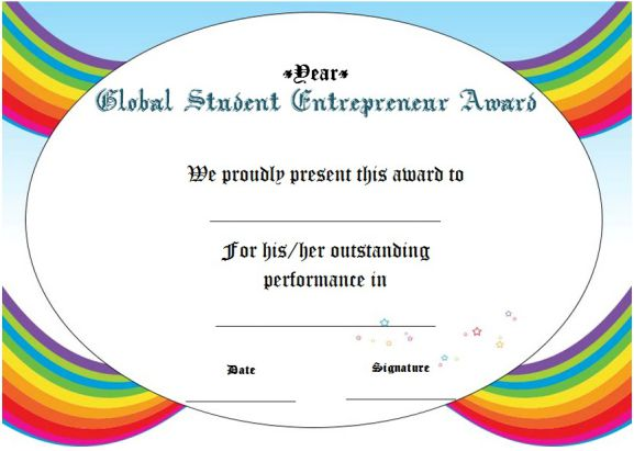 global student entrepreneur of the year award