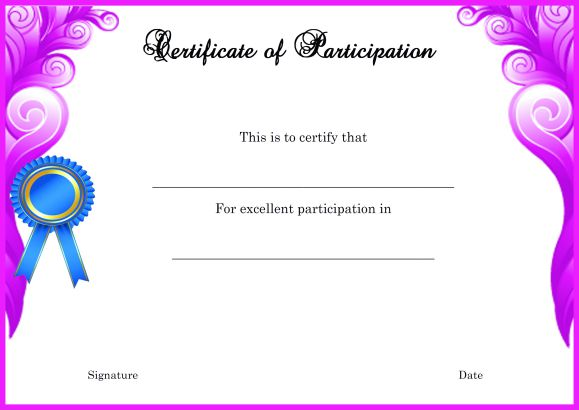 Modern Certificate of Partcipation Template