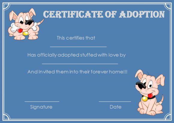 pet-adoption certificate template paw patrol