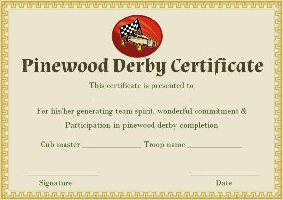 Award Certificate Template For Race