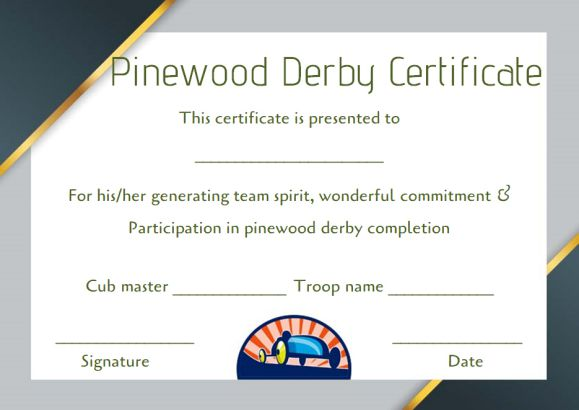 pinewood derby certificate word template