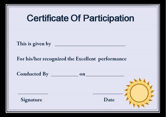 Certificate of participation in workshop template 10 for Template for certificate of participation in workshop