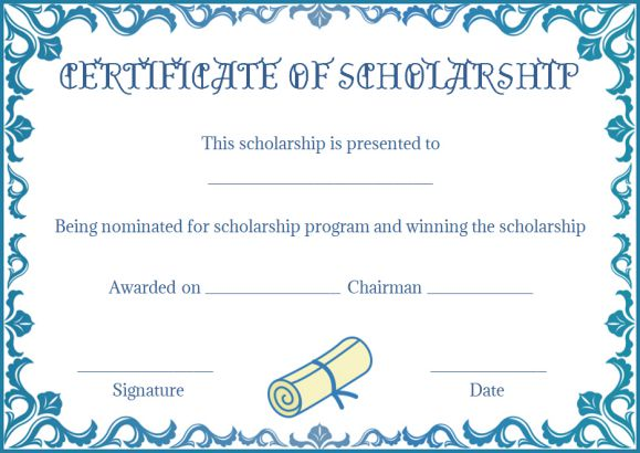 Scholarship Certificate Template: 11 Professional Templates - Demplates