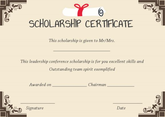 scholarship certificate template 11 professional templates demplates
