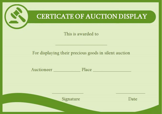 silentauction display template