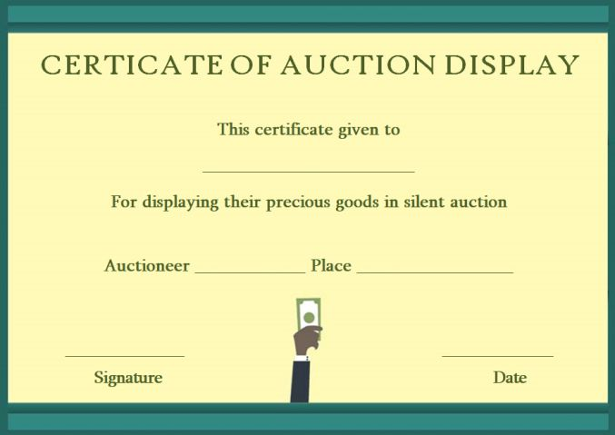 silentauction display templates
