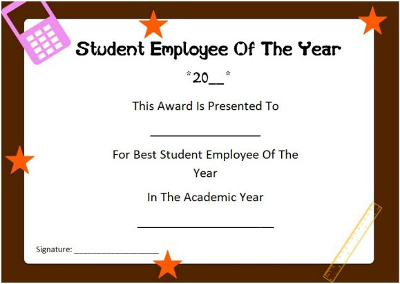 student employee of the year award