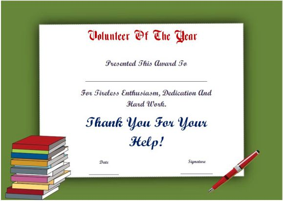 volunteer of the year certificate template - student of the year award certificate templates 20 free