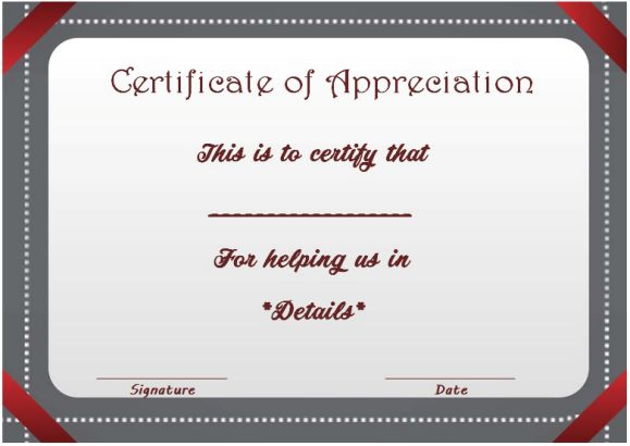 thank you for helping certificate