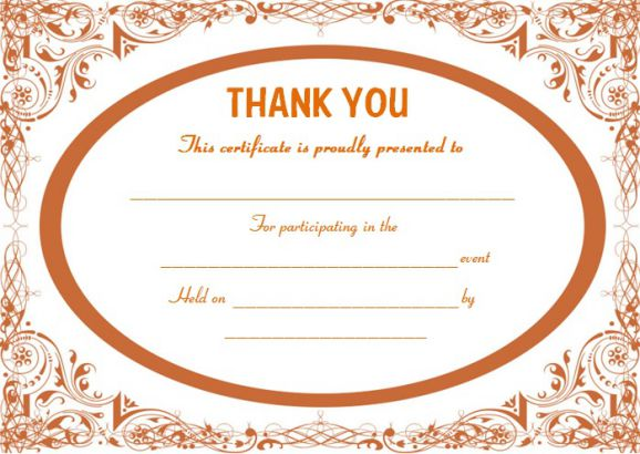 Thank you certificate template 25 templates for free use demplates thank you for gift certificate yelopaper Gallery